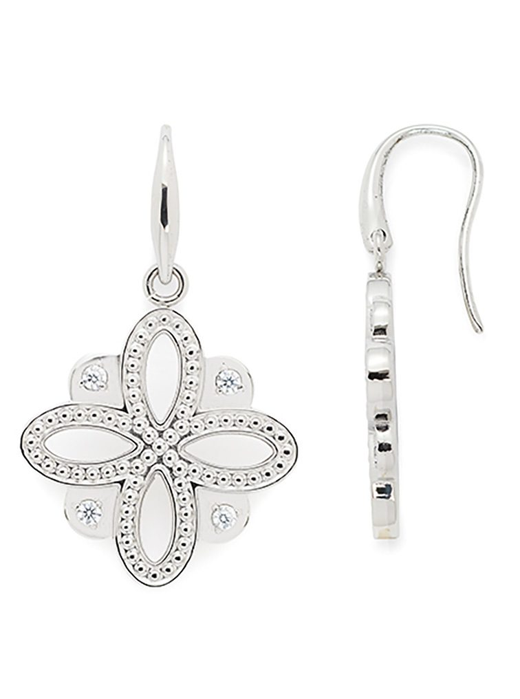 Jewels by Leonardo Ohrschmuck: Paar Ohrhaken mit Glassteinen, »infinito, 015684«