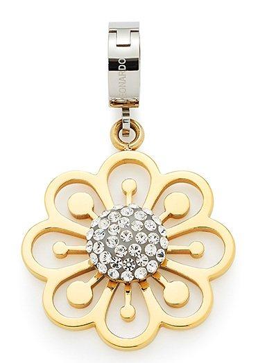 Jewels by Leonardo Charm-Einhänger: Anhänger Blüte mit Glassteinen, »darlin's bravo, 015746« in bicolor