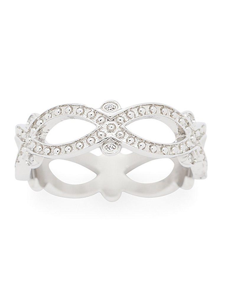 Jewels by Leonardo Damenring: Ring mit Glassteinen, »infinito, 015687, 015688, 015689« in silberfarben