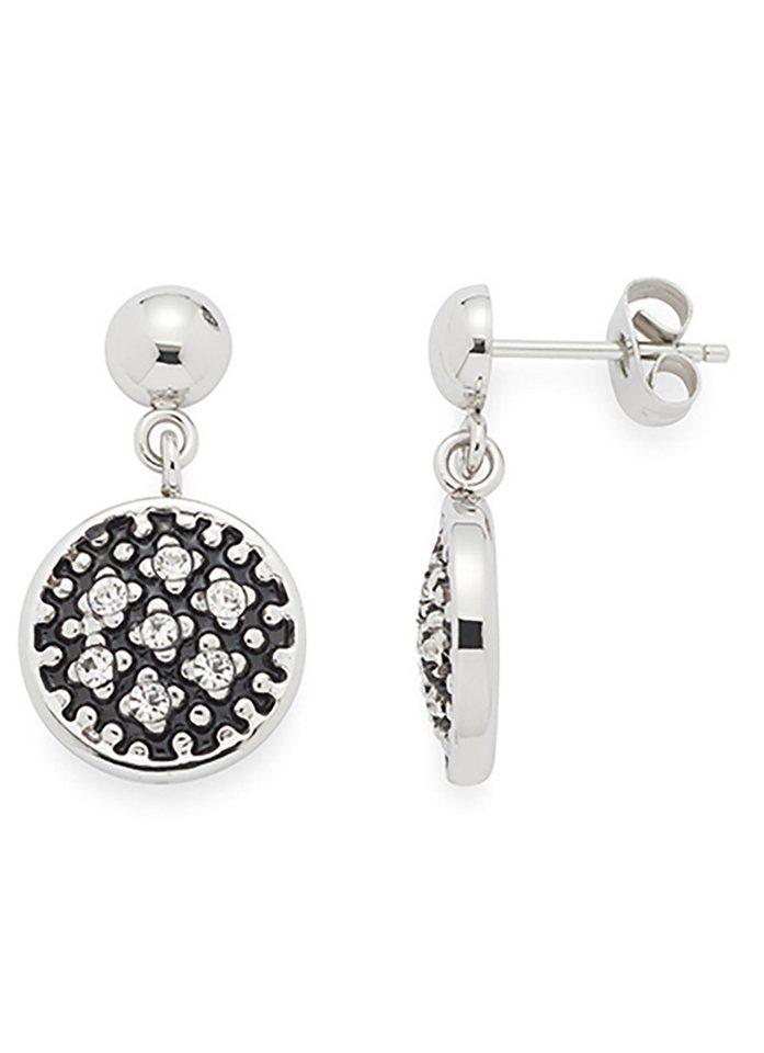 Jewels by Leonardo Ohrschmuck: Paar Ohrstecker mit Glassteinen, »stelletta, 015697« in silberfarben/schwarz