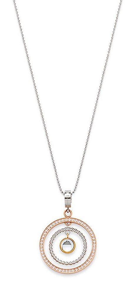 Jewels by Leonardo Halskette: Kette mit Einhänger mit Glassteinen, »tricolori, 015702« in tricolor