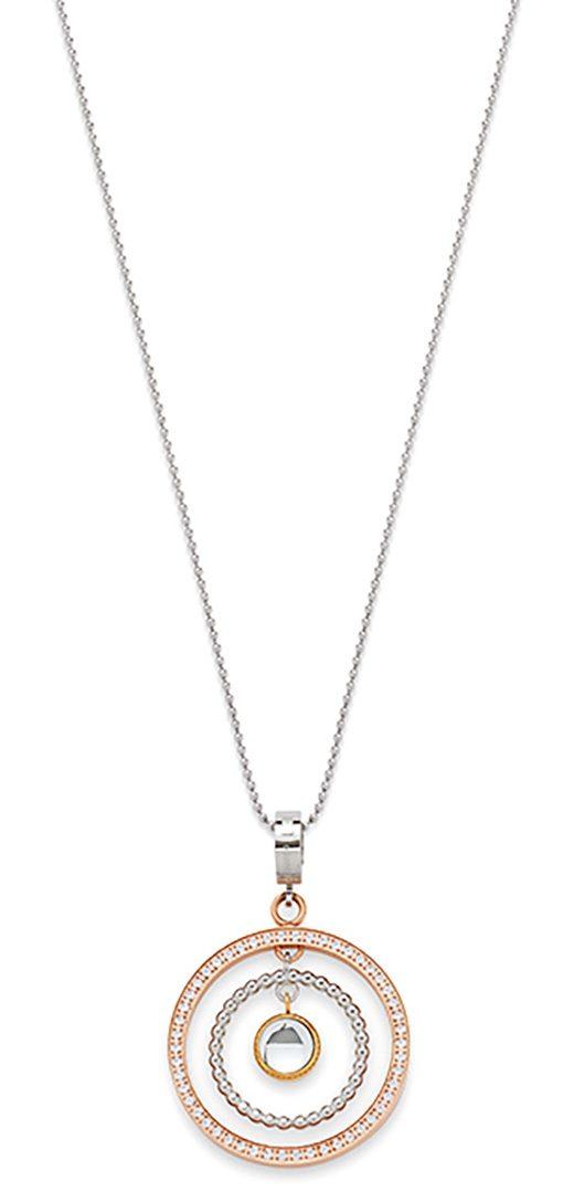 Jewels by Leonardo Halskette: Kette mit Einhänger mit Glassteinen, »tricolori, 015702«