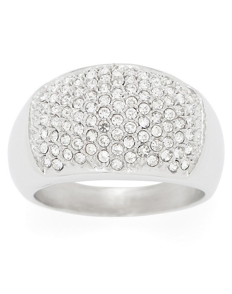 Jewels by Leonardo Damenring: Ring mit Glassteinen, »lume, 015724, 015725, 015726« in silberfarben