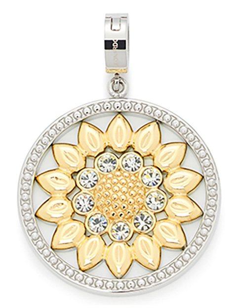 Jewels by Leonardo Charm-Einhänger: Anhänger mit Glassteinen, »darlin's fiore, 015760« in bicolor