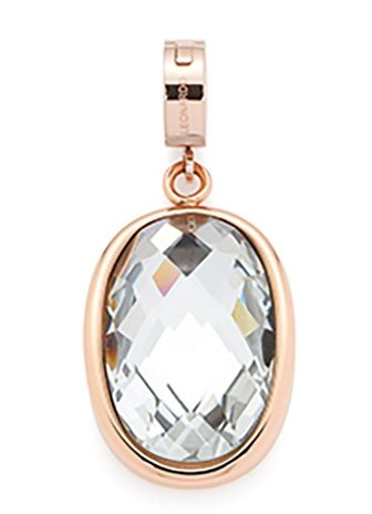 Jewels by Leonardo Charm-Einhänger: Anhänger mit Glasstein, »darlin's diva roségold, 015662« in roségoldfarben