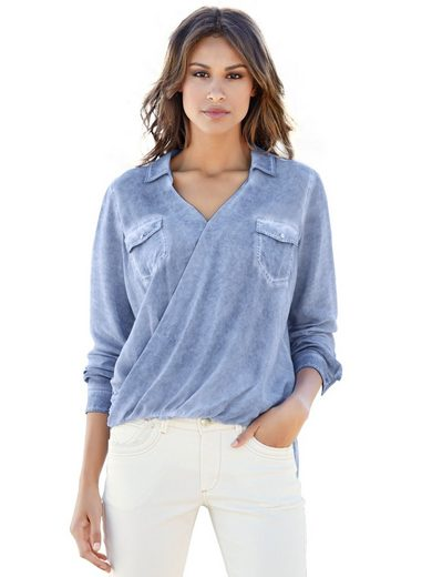 heine CASUAL Wickelbluse mit Oil-dyed Waschung