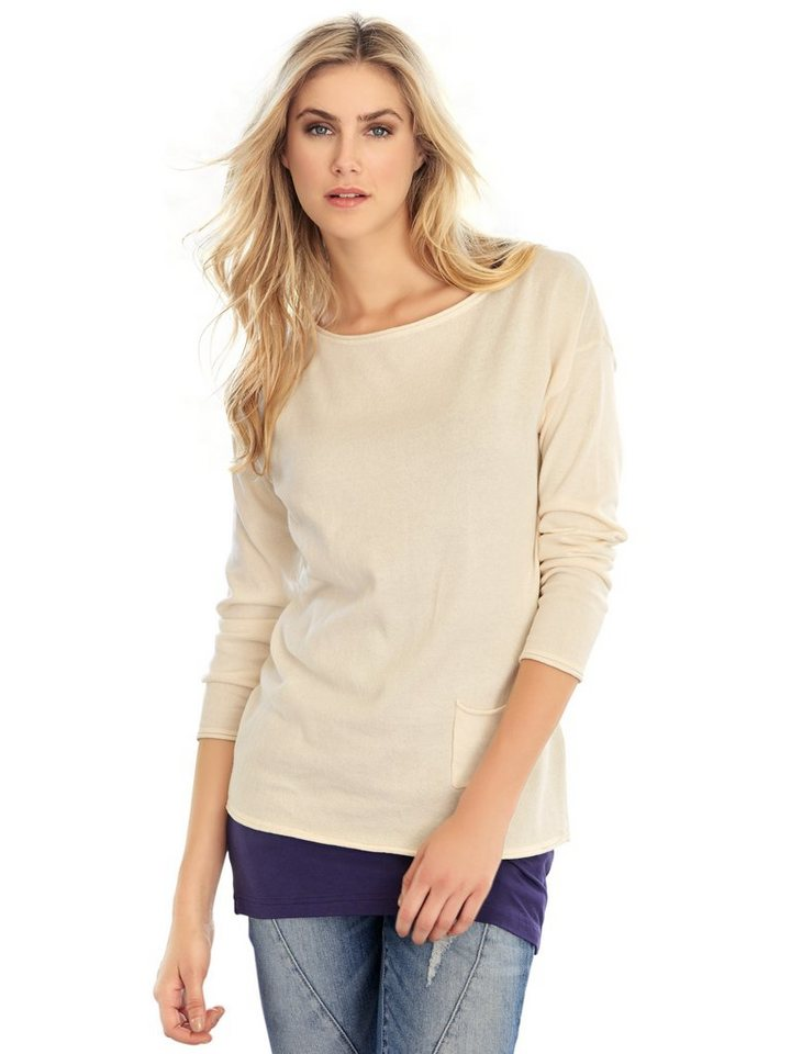 RICK CARDONA by Heine Oversized-Pullover in sand