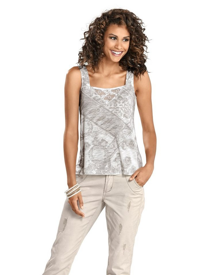 Shirttop in taupe