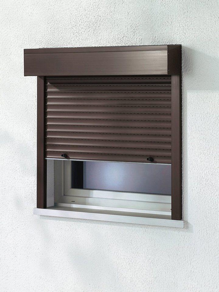 Kunststoff »Vorbau-Rollladen« Sondermaß Breite, Höhe:130 cm, braun in braun
