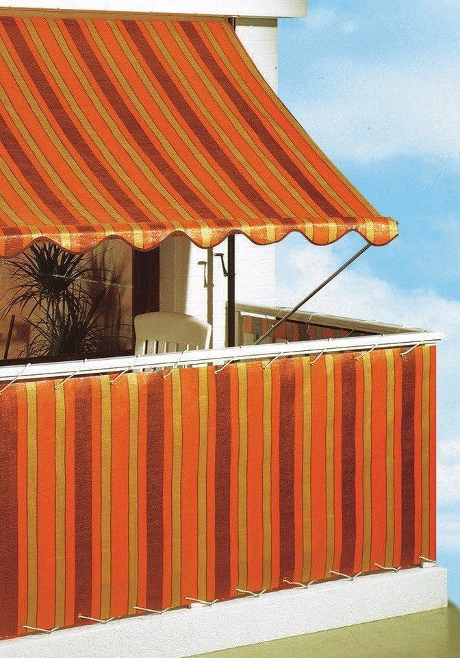 Klemmmarkise »Polyehylen, orange/braun« in 5 Breiten in orange