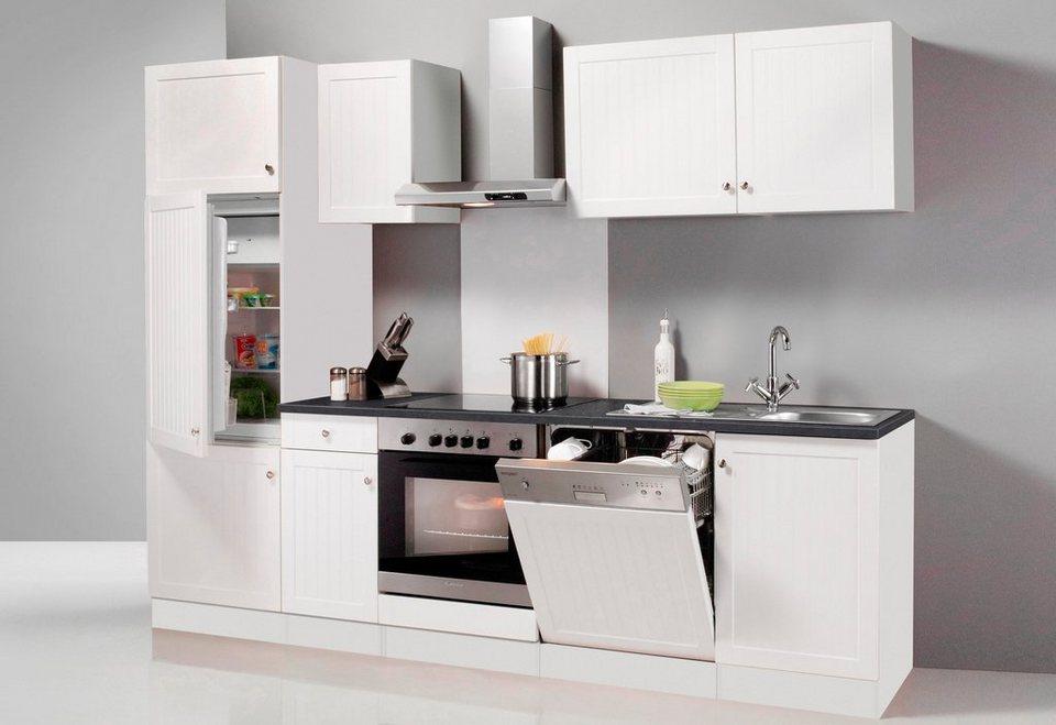 Küchenzeile ohne E-Geräte »Bornholm«, Breite 270 cm in weiß/anthrazit
