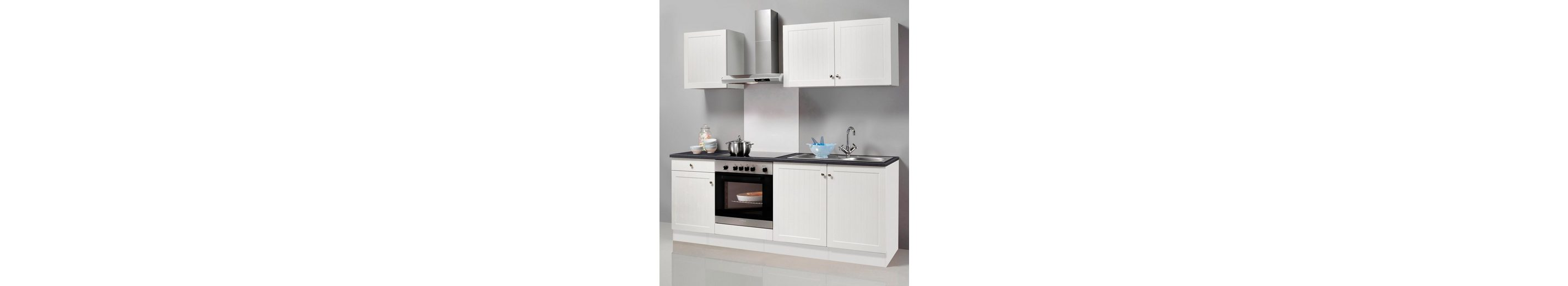 Küchenzeile mit E-Geräten »Bornholm«, Breite 210 cm