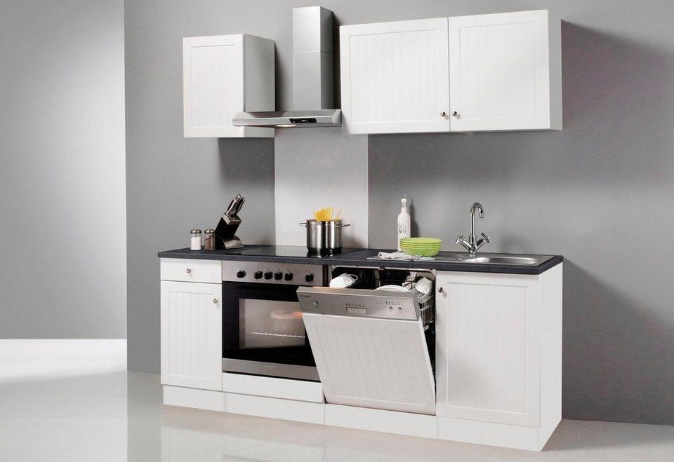Küchenzeile ohne E-Geräte »Bornholm«, Breite 210 cm in weiß/anthrazit