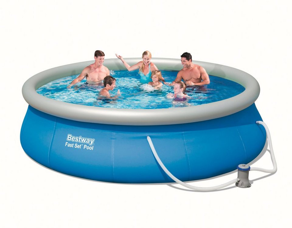 Bestway Set: Quick-Up Pool »Fast Set Pool«, mit Filterpumpe, ØxH: 366 x 76 cm in blau