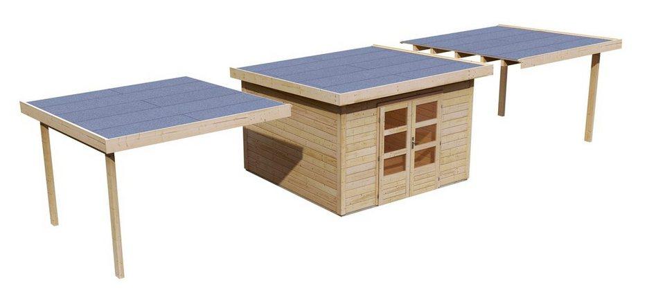 Set: Gartenhaus »Taranis 7«, BxT: 304x304 cm in natur