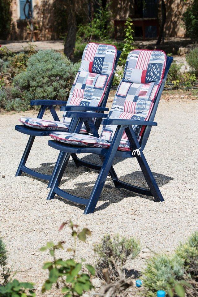 best gartenstuhl elise 2er set kunststoff verstellbar blau inkl auflage online kaufen. Black Bedroom Furniture Sets. Home Design Ideas