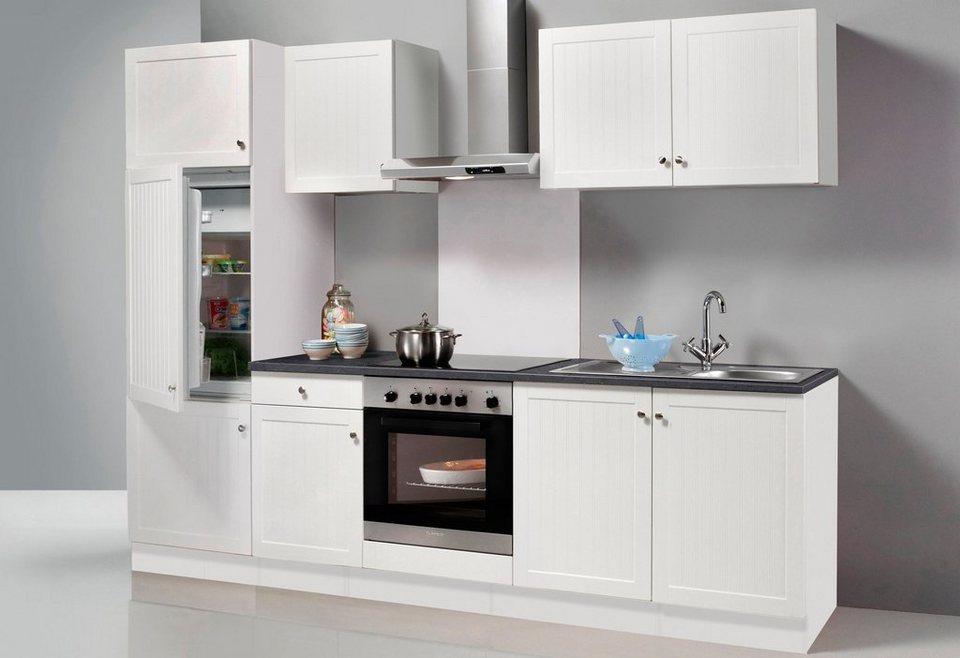 Küchenzeile mit E-Geräten »Bornholm«, Breite 270 cm in weiß/anthrazit