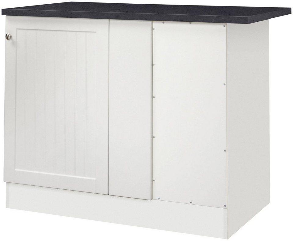 Optifit Eckunterschrank »Bornholm«, Breite 110 cm in weiß/anthrazit