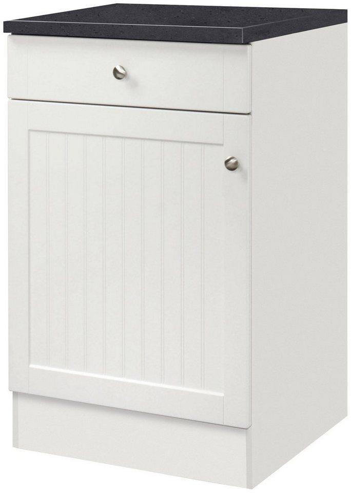 Küchenunterschrank »Bornholm«, Breite 50 cm in weiß/anthrazit