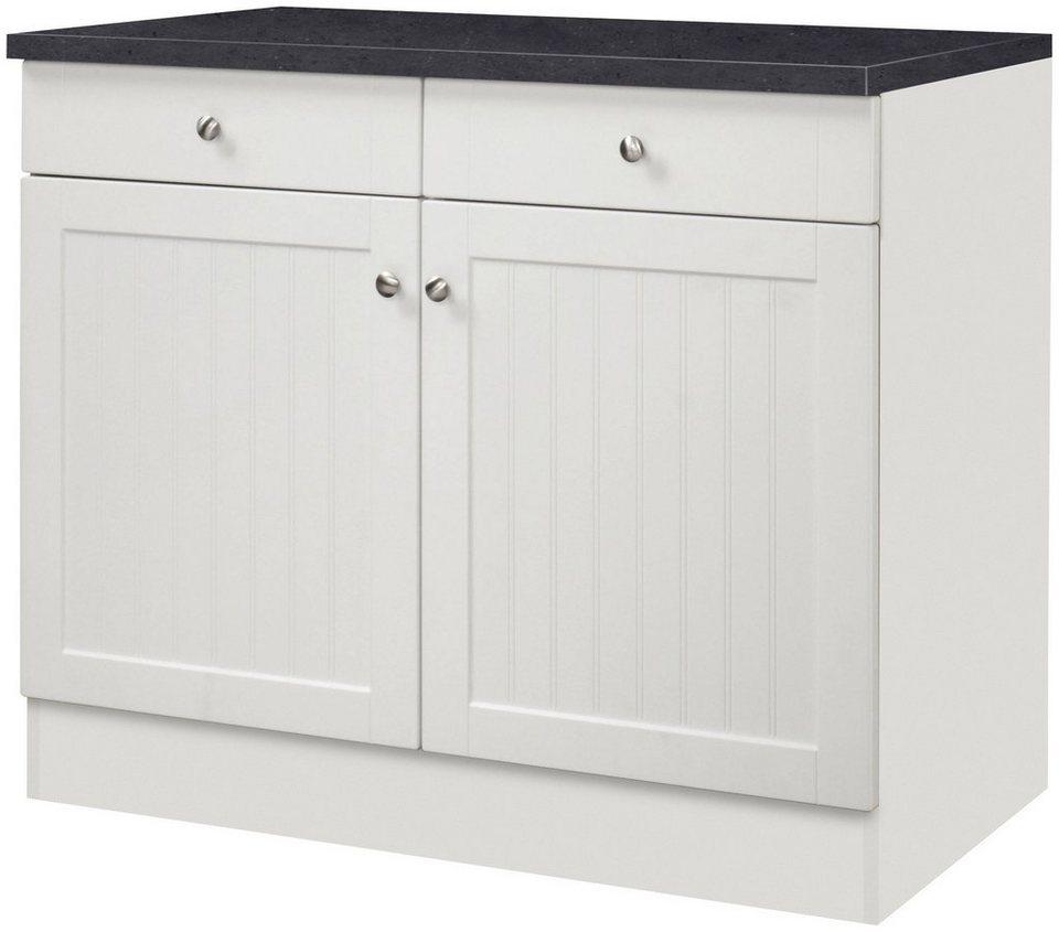 Küchenunterschrank »Bornholm«, Breite 100 cm in weiß/anthrazit