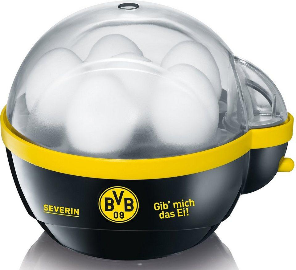 Severin Eierkocher EK 9741, für 6 Eier in Schwarz-gelb