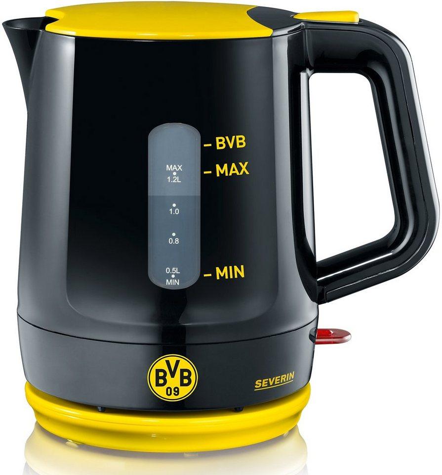 severin wasserkocher wk 9742 borussia dortmund fanartikel 1 2 liter 1500 watt schwarz gelb. Black Bedroom Furniture Sets. Home Design Ideas