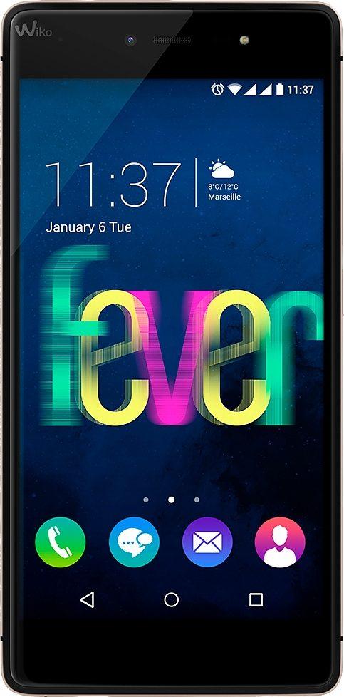 Wiko FEVER Smartphone, 13,2 cm (5,2 Zoll) Display, LTE (4G), Android 5.1 Lollipop, 13,0 Megapixel