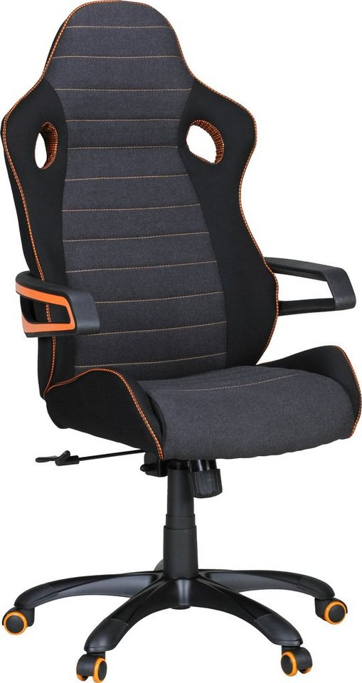 Amstyle Chefsessel »Alonso« in schwarz-orange
