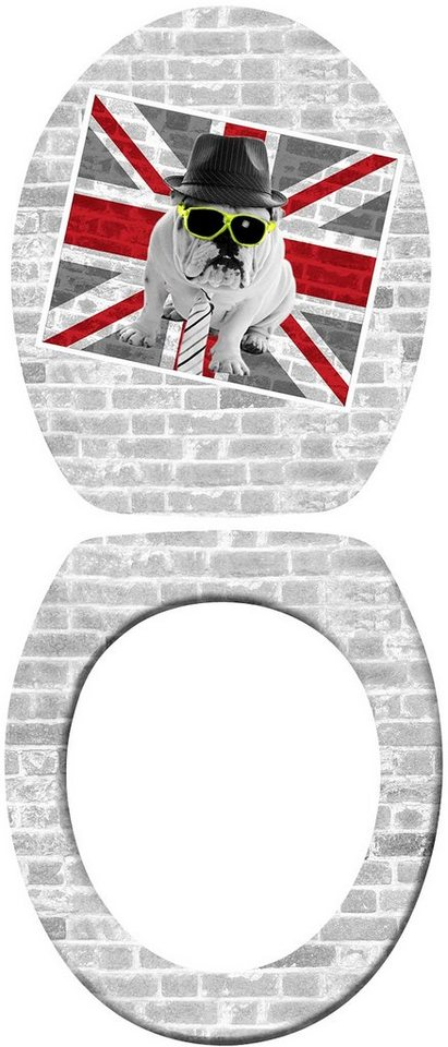 Wenko WC-Sitz »Union Jack«, mit Absenkautomatik in Mehrfarbig