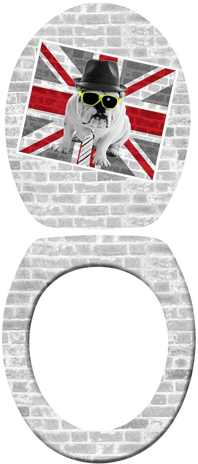 WENKO WC-Sitz »Union Jack«, mit Absenkautomatik