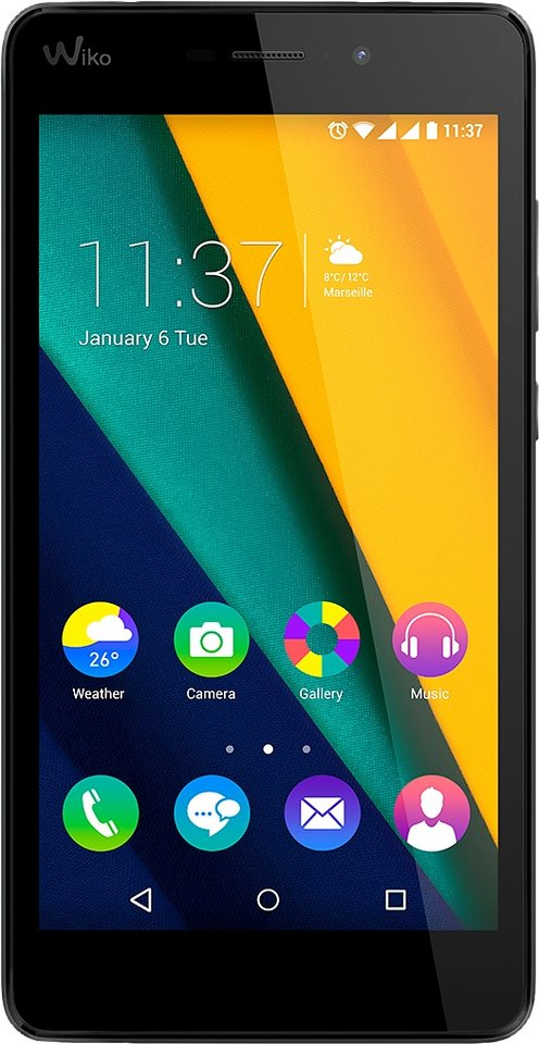 Wiko Pulp FAB 4G Smartphone, 13,9 cm (5,5 Zoll) Display, LTE (4G), Android™ Lollipop 5.1.1 in schwarz