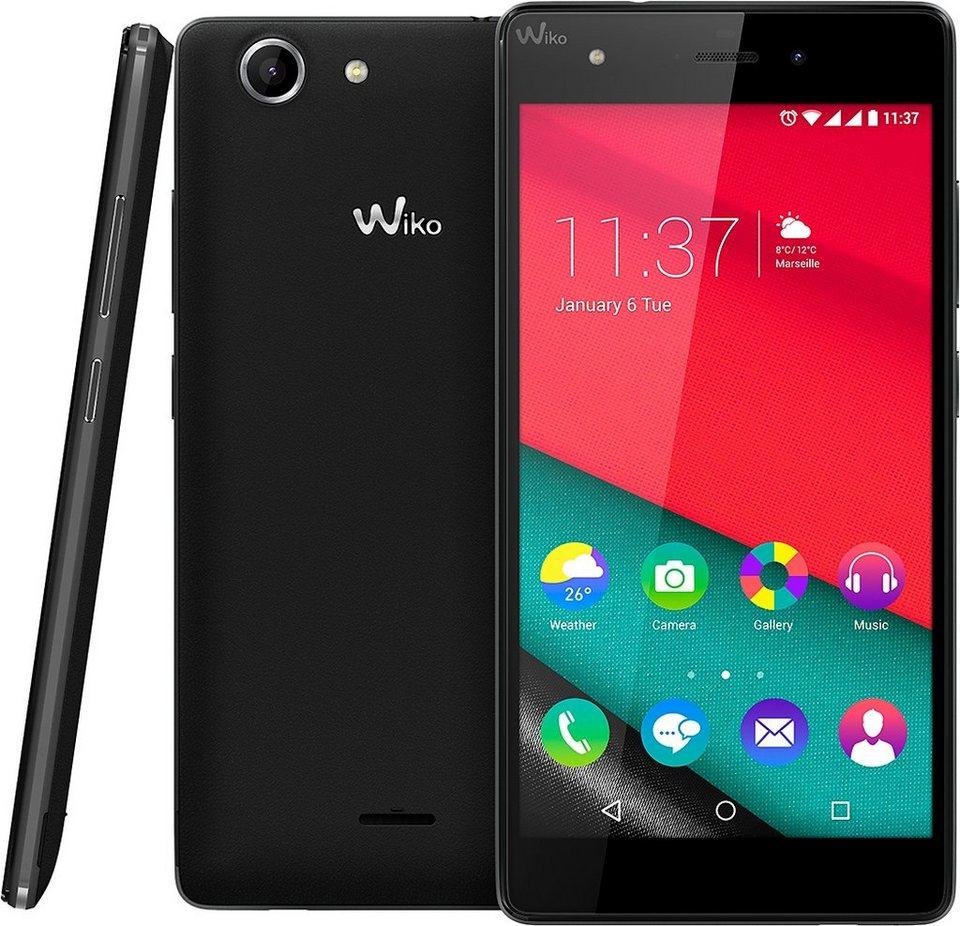 Wiko Pulp 4G Smartphone, 12,7 cm (5 Zoll) Display, LTE (4G), Android 5.1 Lollipop, 13,0 Megapixel in schwarz