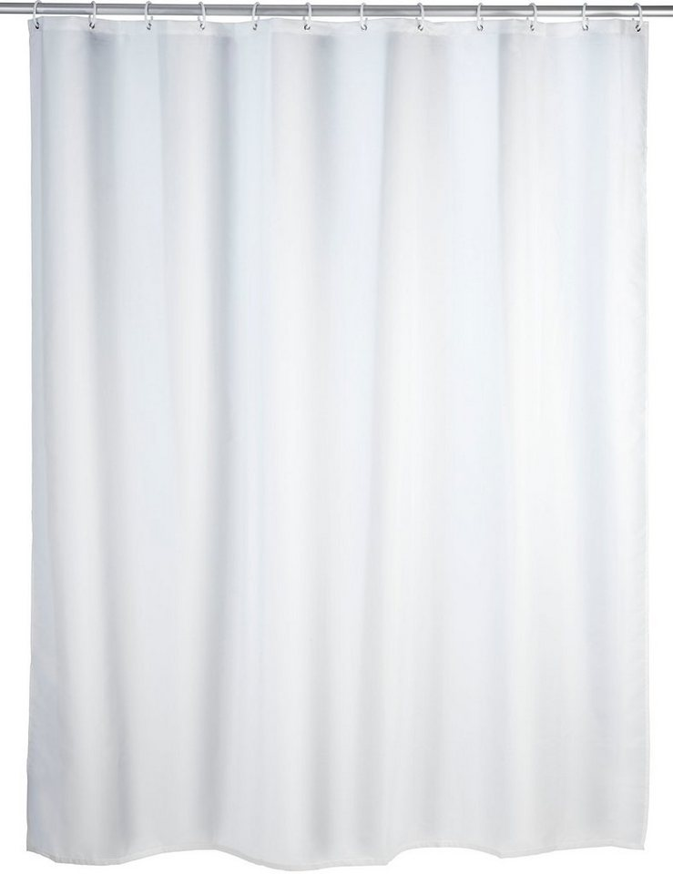 Wenko Duschvorhang Uni, 180/200 cm, waschbar in Weiß