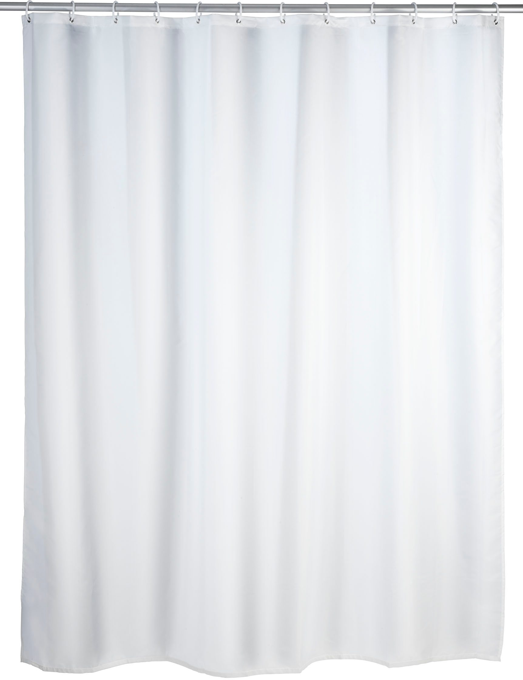Wenko Duschvorhang Uni, 180/200 cm, waschbar