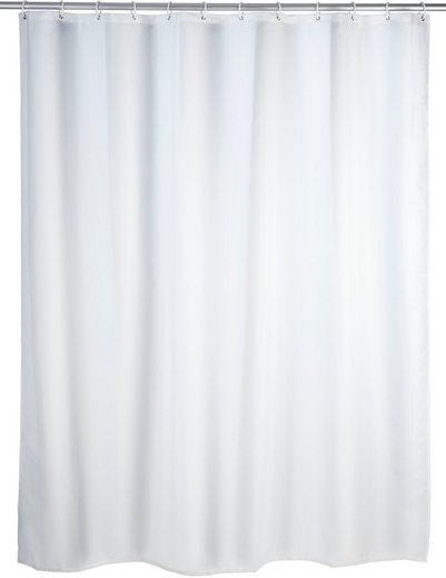 WENKO Duschvorhang breite 180 cm, Anti-Schimmel Duschvorhang Uni, 180/200 cm, waschbar