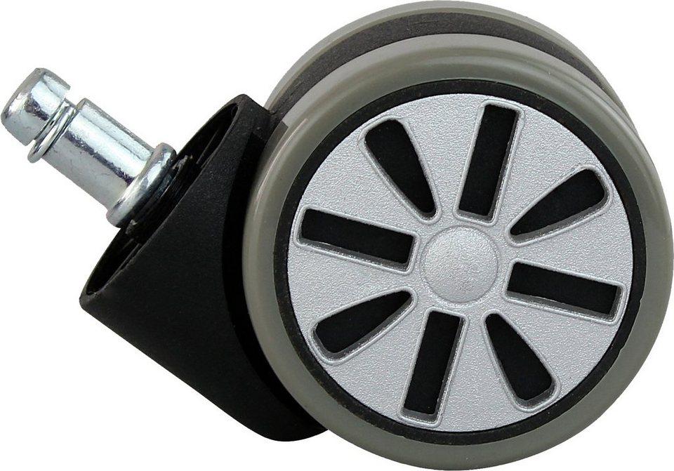 Amstyle Hartbodenrolle »Alu«, 6 cm, verschiedene Farben in grau-schwarz