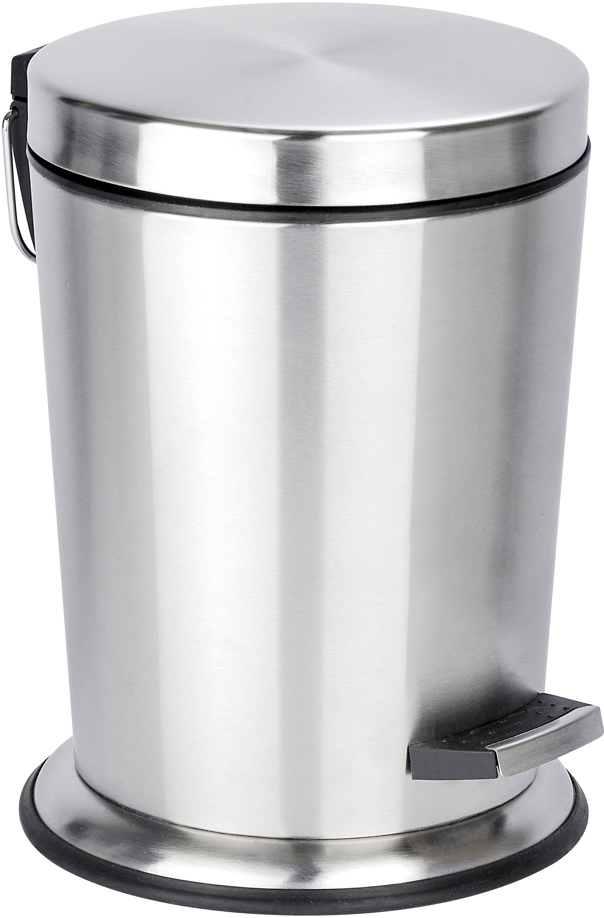 WENKO Treteimer »Easy Close«, 5 Liter, Edelstahl rostfrei, Absenkautomatik, Anti-Fingerprint