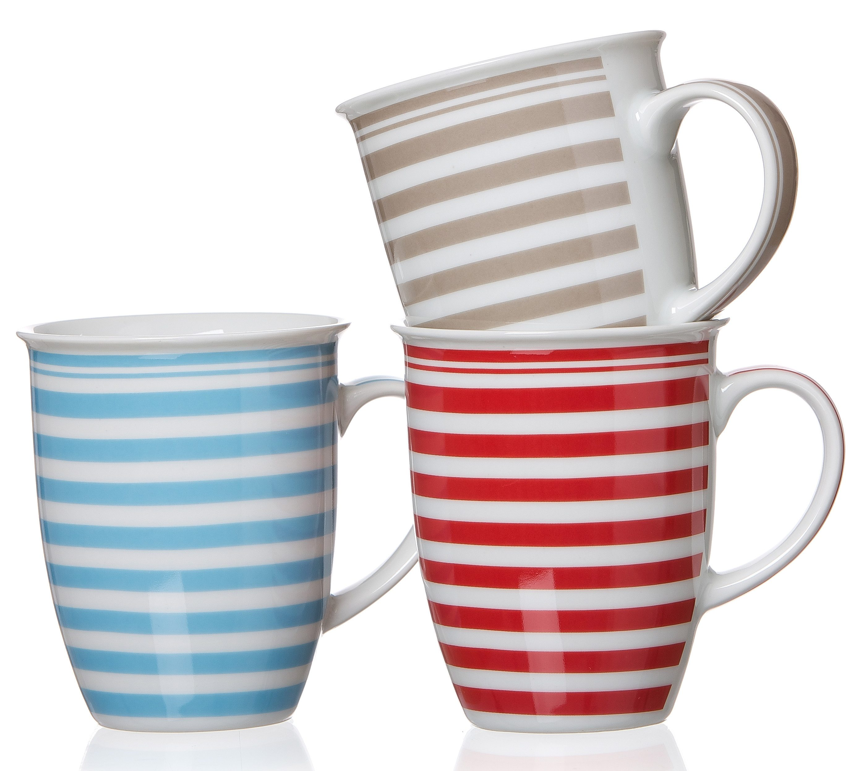 Flirt by R&B Kaffeebecher-Set Porzellan, »Modern Stripes«