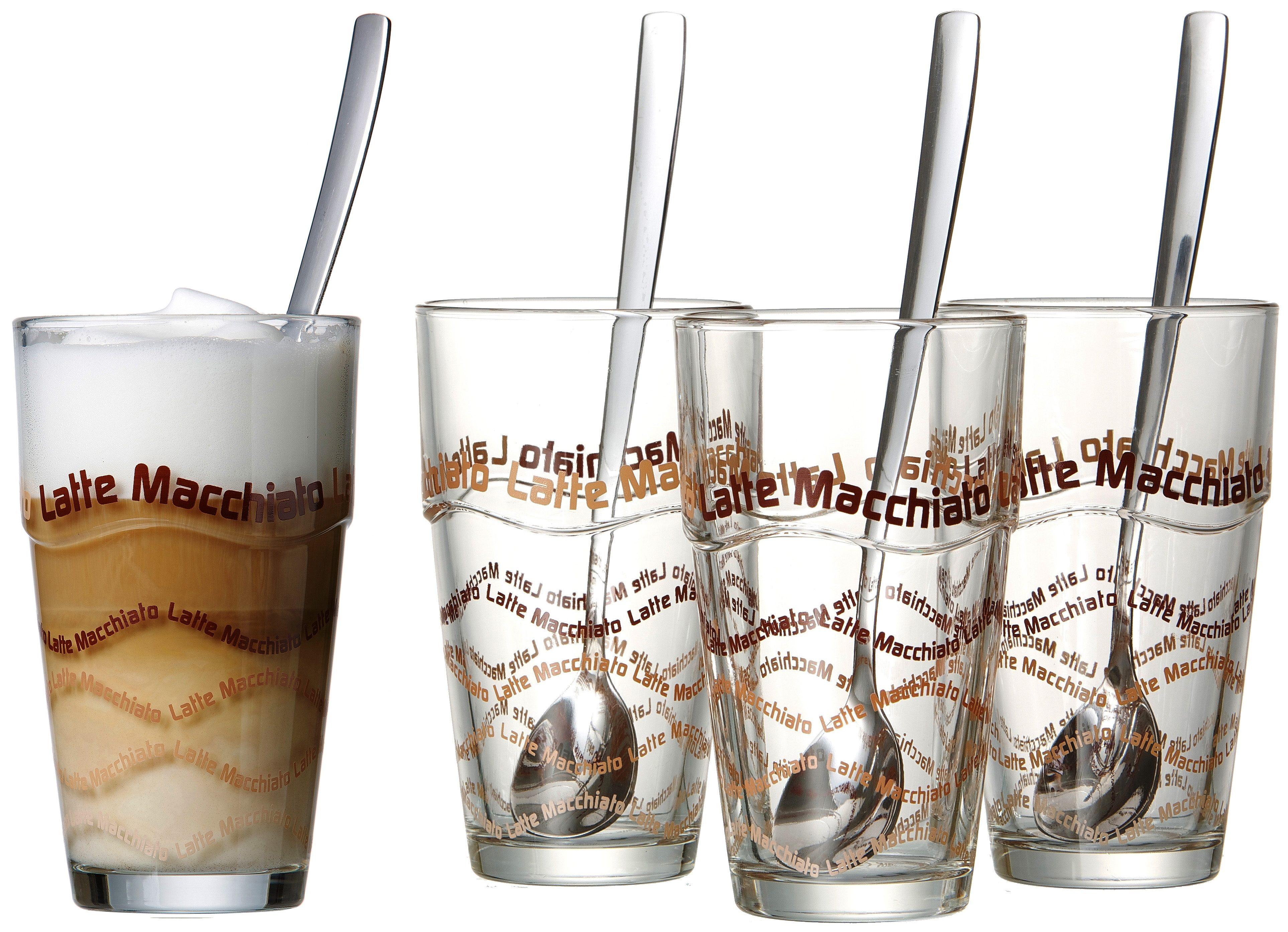 Flirt by R&B Longdrink/Latte Macchiato-Gläser, plus Löffel