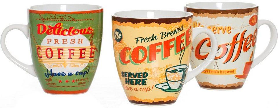 Flirt by R&B Kaffeebecher-Set Keramik, »Americano« in bunt