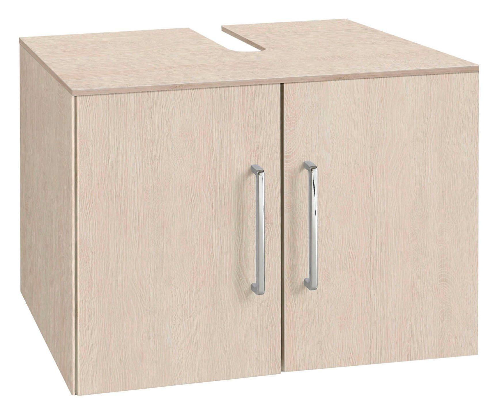 OPTIFIT Waschbeckenunterschrank »Samoa«   Bad > Badmöbel > Waschbeckenunterschränke   Weiß   Glänzend   OPTIFIT