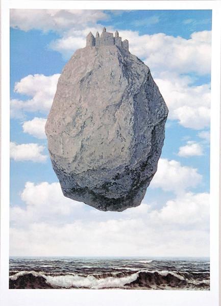 Home Affaire Bild Kunstdruck »Magritte, Le chateau des Pyrénées«, 50/70 cm in grau/blau