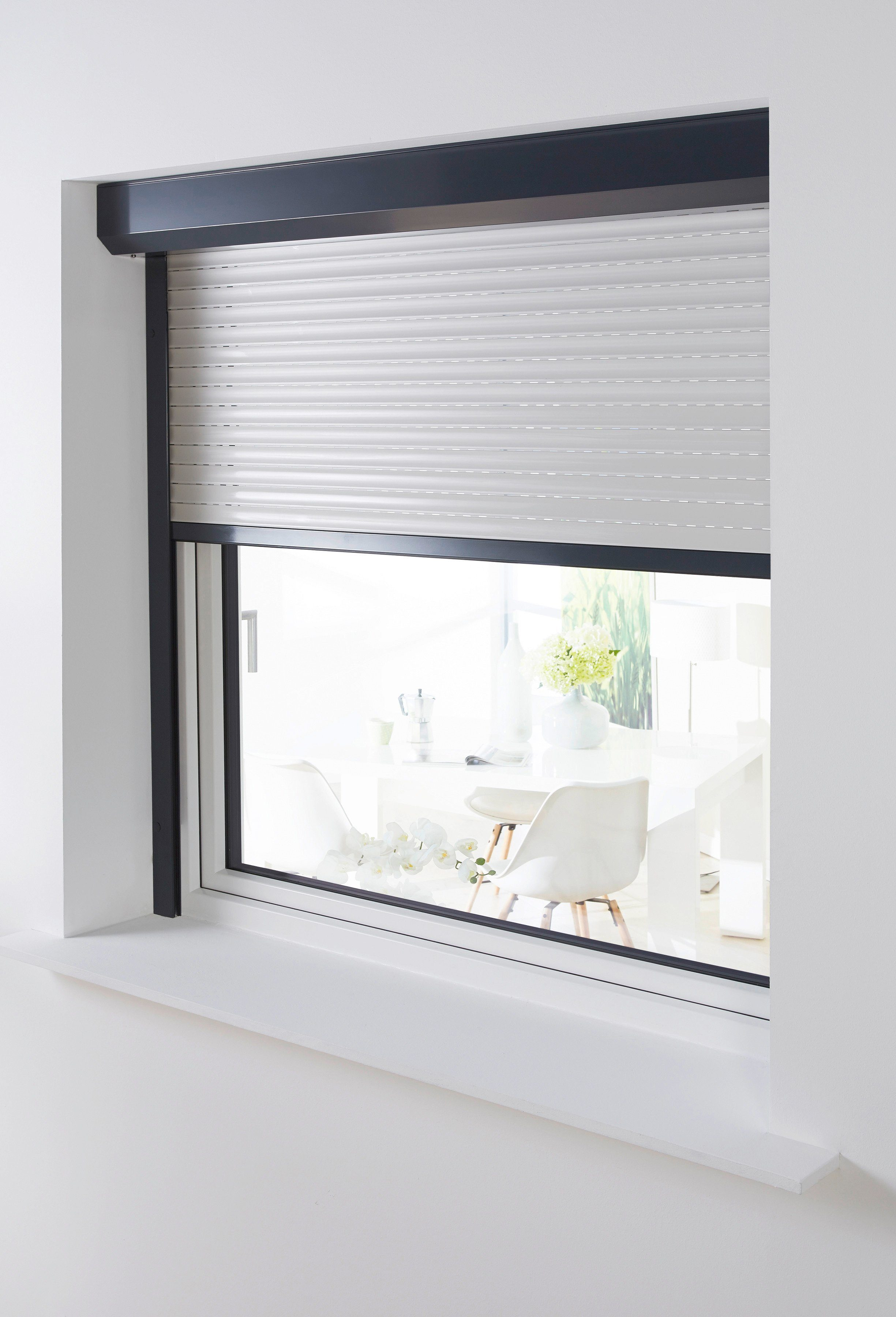 Aluminium »Vorbau-Rollladen« Sondermaß Breite, Höhe: 210 cm, anthrazit-grau
