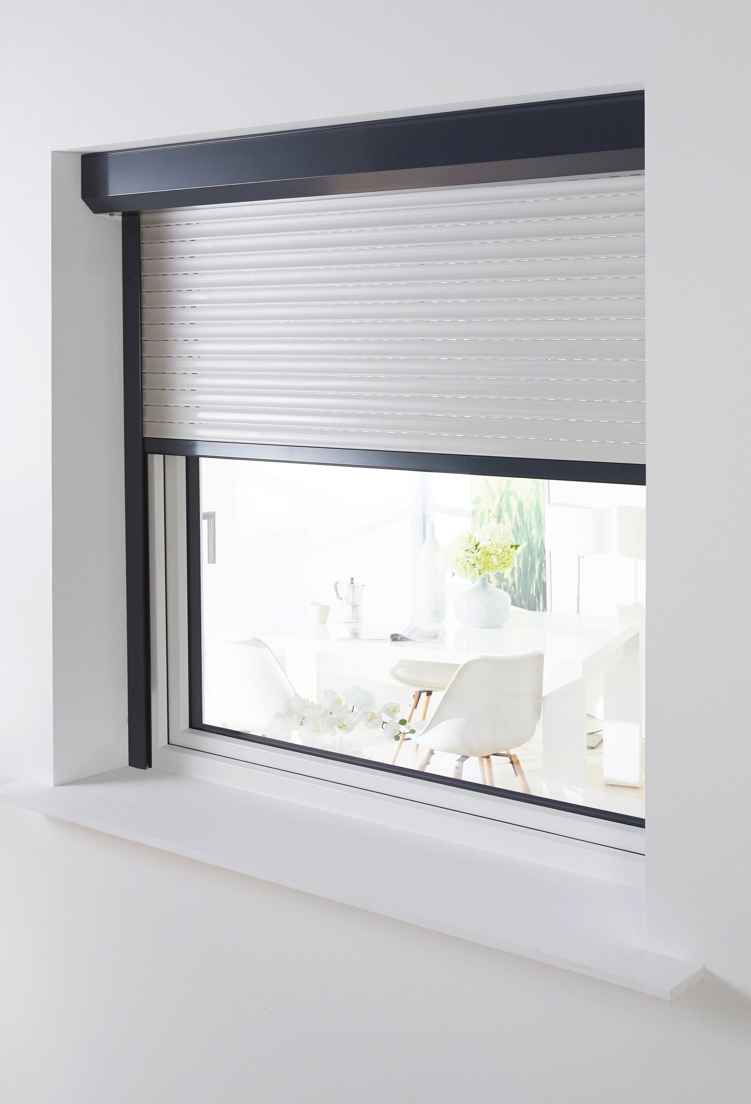 Aluminium »Vorbau-Rollladen« Sondermaß Breite, Höhe: 130 cm, anthrazit-grau