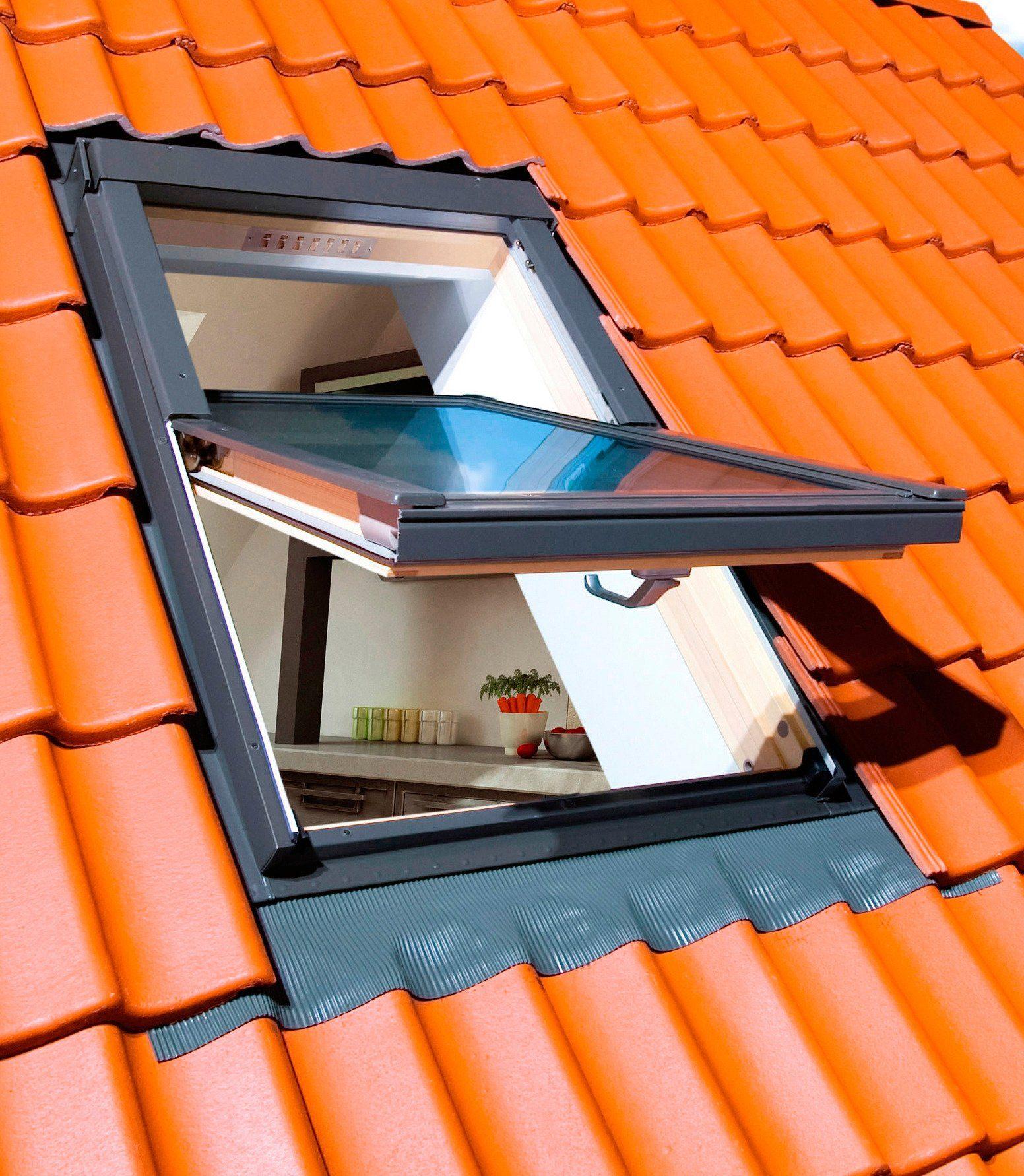 Fakro Sparset: Dachfenster »FTS-V U2«, BxH: 94x118 cm, inkl. Rollo und Eindeckrahmen