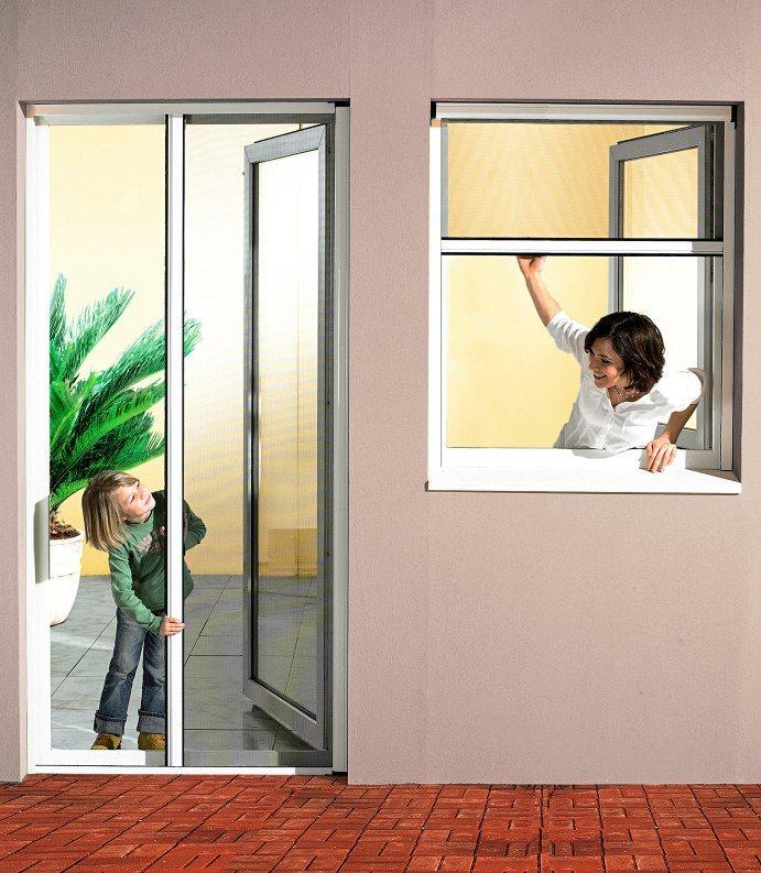 Komplett-Set: Insektenschutz-Rollo »Mosquito« für Türen,125 x 220 cm, weiß