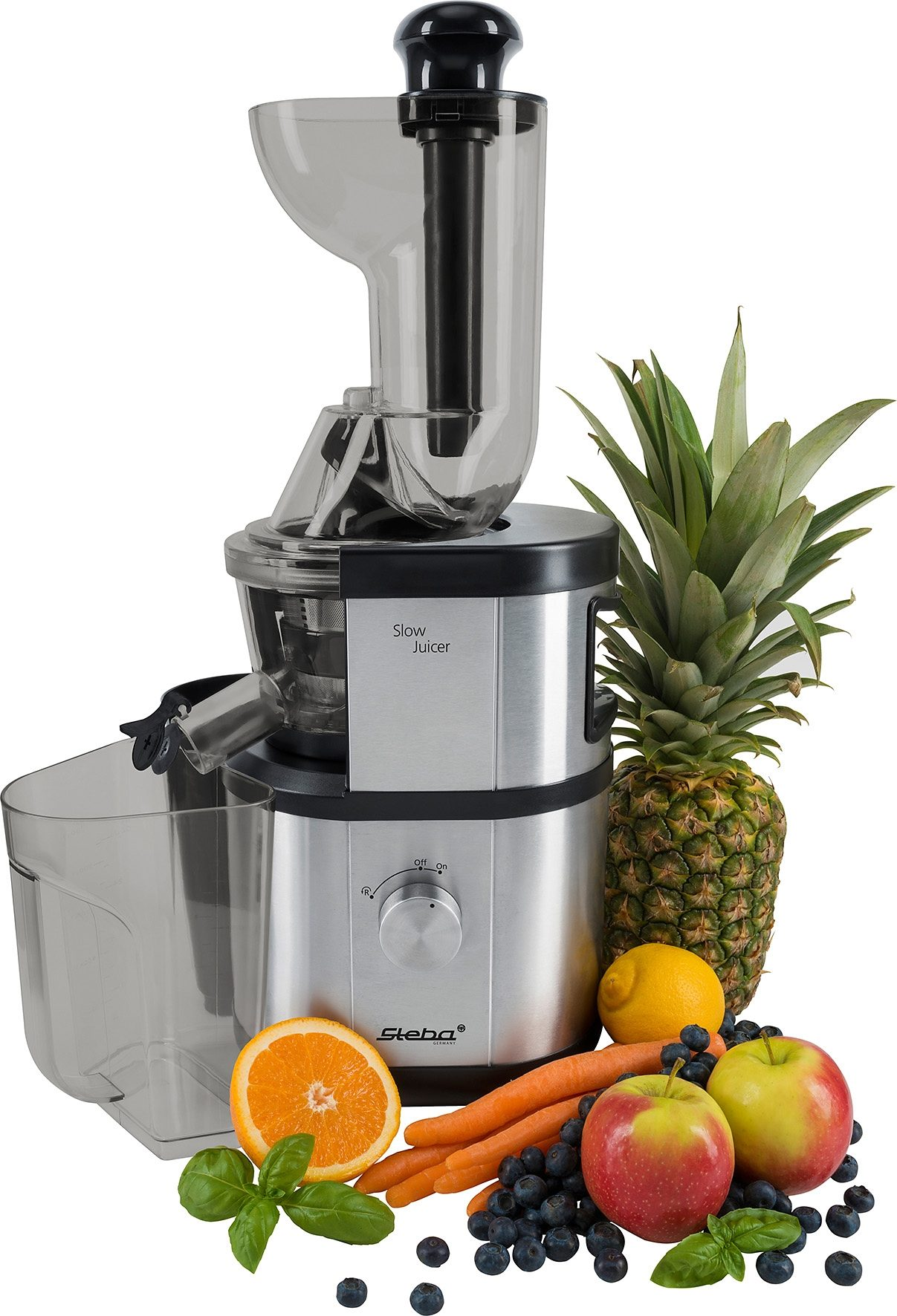Steba Slow-Juicer E 400, schonend kaltes Pressverfahren, 400 Watt