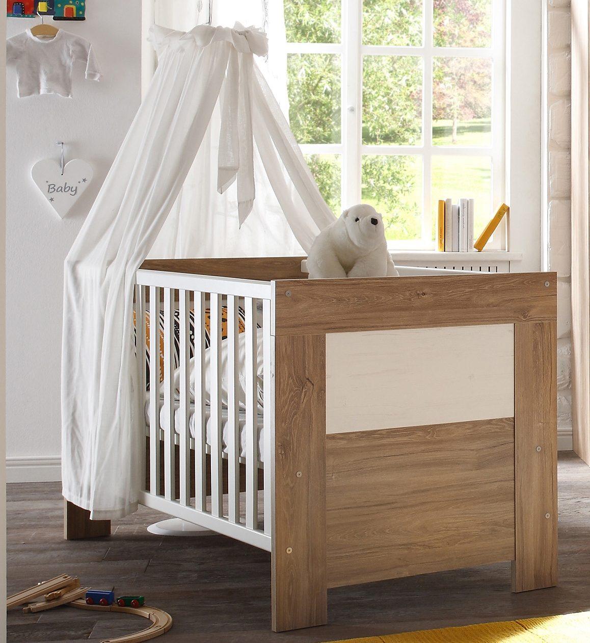 Babybett zur Babymöbel Serie »Granny«, in stirling oak/ anderson pine