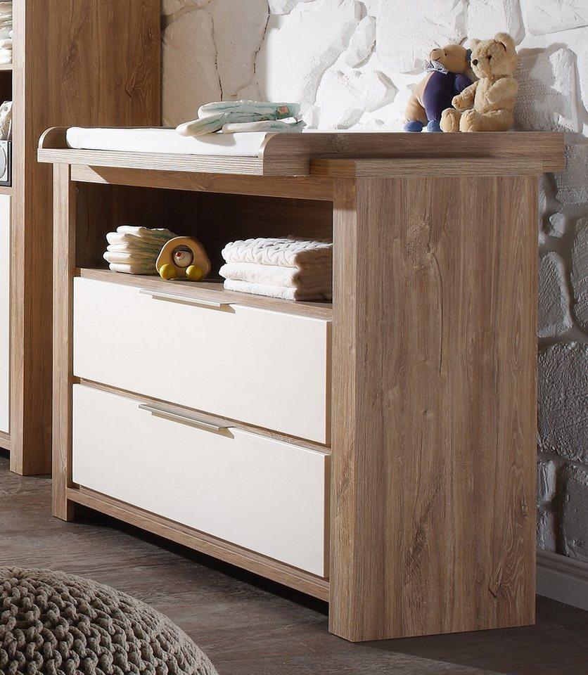 wickelkommode zur babym bel serie granny in stirling oak anderson pine online kaufen otto. Black Bedroom Furniture Sets. Home Design Ideas