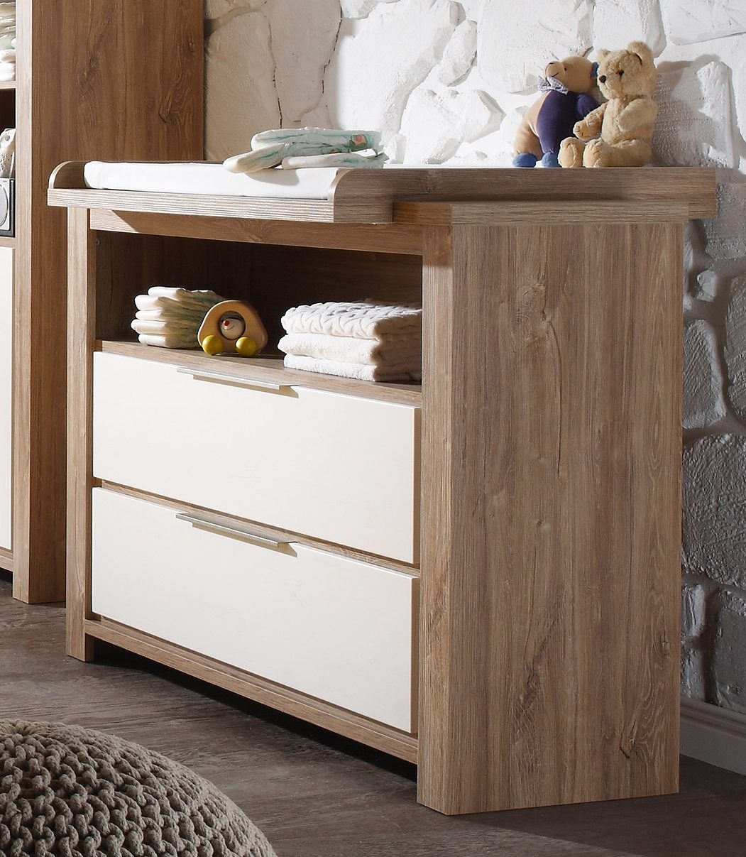 Wickelkommode zur Babymöbel Serie »Granny«, in stirling oak/ anderson pine